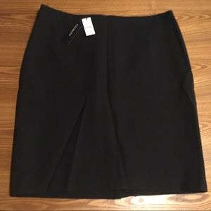 NWT Talbot's flat front wool blend lined skirt